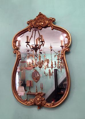Miroir Louis XV en bronze d'art