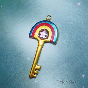 #59 Rainbow Brite Magic Key - pendant (11-2015)
