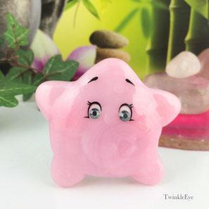 TwinkleEye Carebears Starbuddy Swarovski pink cute fimo