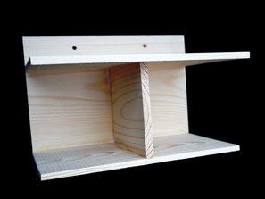 Купить скворечник для певчих птиц недорого.  Гнездовая полочка для птиц.