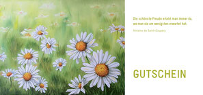 Margeriten - Wiese - Blumen - Öl-Gemälde