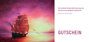 Morgenröte - Schiff - Segelschiff - Öl-Gemälde