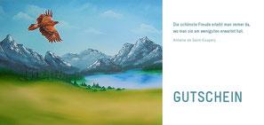 Adler - Steinadler - Gebirge - Öl-Gemälde