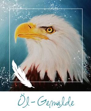 Öl-Gemälde - Alder - Weisskopfseeadler - eagle