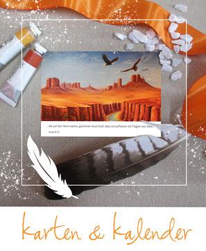 Postkarten - Adler - Feder - Karten