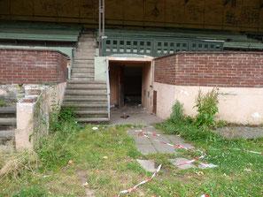 Altes Stadion, Eingang Katagomben, Tribüneninnere