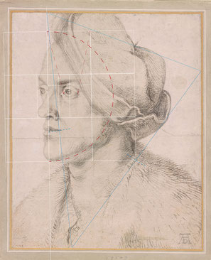 (34) Albrecht Dürer, Portrait of the Artist's Brother Endres, c. 1518, charcoal on paper, background heightened in white, 32.4 x 26.2 cm, The Morgan Library & Museum / New York