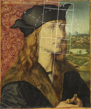 (22) Albrecht Dürer, Ritratto di Hans XI. Tucher (parte di un dittico), olio su legno di tiglio, 29,7 x 24,7 cm, n. invent. G31, Schlossmuseum Weimar / Klassik Stiftung Weimar
