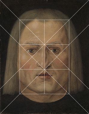 (Bild 4) Liniengerüst mit sechs Feldern und Diagonalen