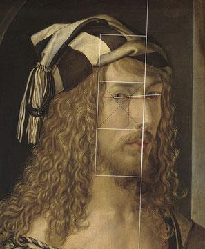 (20) Albrecht Dürer, autoritratto (scorcio), olio su legno, 52 x 41 cm, n. invent. P02179, Museo del Prado / Madrid