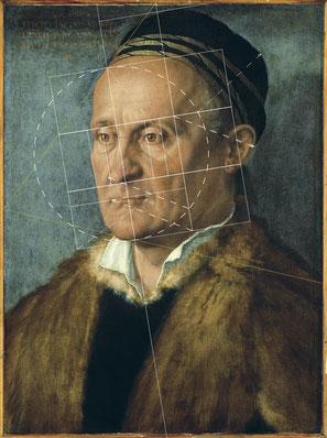 (33) Albrecht Dürer, Ritratto di Jakob Muffel, 1526, olio su tela, 48 x 36 cm, n. invent. 557D, Galleria dipinti / Staatliche Museen Berlino