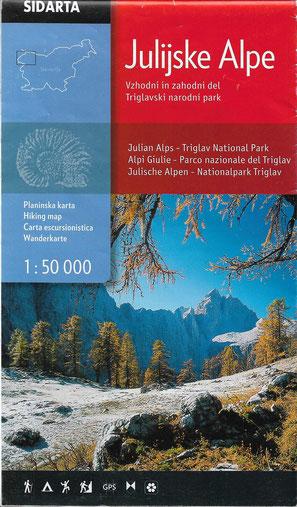 Wanderkarte Julische Alpen