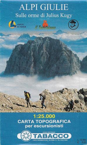 Tabacco Wanderkarte Julische Alpen, Kugy