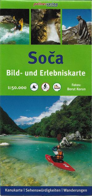 Soca Bild- und Erlebniskarte, pollnerverlag - tolle, wasserfeste Qualität !