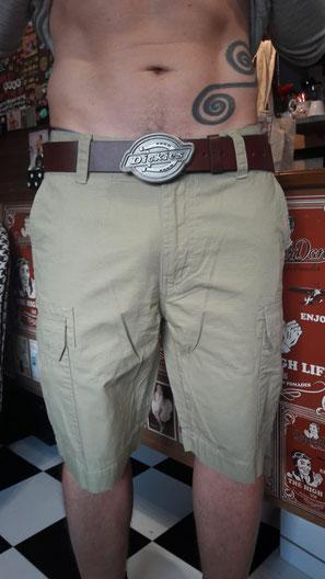 Dickies Shorts Cargo New York Annakonda Rockabilly Luzern Leather Belt Two Toe