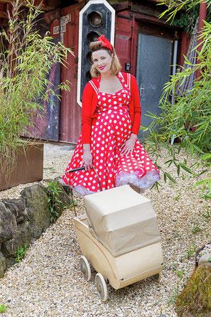 Dress, Cardigan & Petticoat by Hellbunny