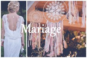Photos mariage bohème romantique chic champêtre Elixirphotos