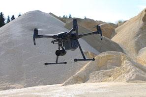 Volumenvermessung per Drohne DJI Matrice 200 Firma Fischer, Weilheim