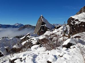 Kleines Matterhorn beim Zwerchwandsturz bei Bad Goisern am Weg zur Hütteneckalm