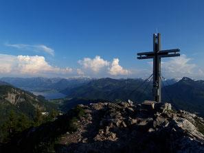 Frauenkopf Gipfel am Mondsee, später Weiterwanderung auf den Schober und zur Ruine Wartenfels