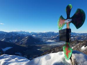Gipfelkreuz am Gipfel der Lust, Weiterwanderung auf Koglerstein, Schoberstein und Schobersteinhaus