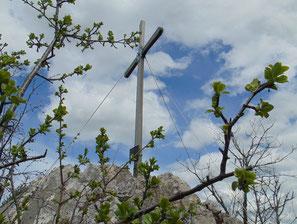 Kreuzmauer Gipfelkreuz nach dem Aufstieg vom Gasthof Klausriegler