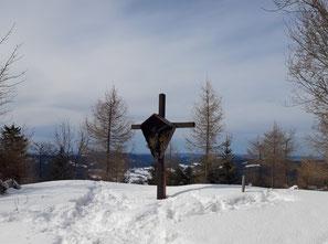 Gipfelkreuz der Hochplettspitze am Attersee