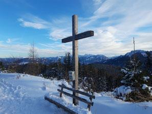 Eiskogel Gipfelkreuz, am Weg zum Pernecker Kogel