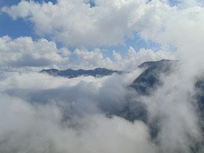 Ausblick auf das Höllengebirge vom Brunnkogel Gipfel aus