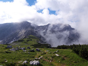 Tour zu Schrocken und Hochmölbing - kurz vor dem Schafkögel Gipfel am Weg zum Schrocken Grat
