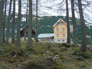 Dümler Hütte, nach Aufstieg über Seegraben