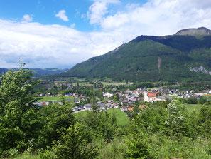 Ausblick vom Kirchmühlerkogel auf Grünau im Almtal