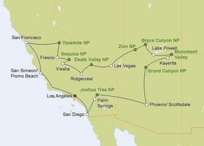 Mietwagenreise Great West