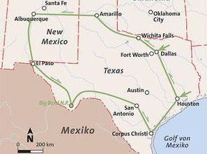 Mietwagenreise Texas und New Mexiko