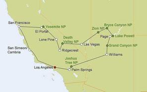 Mietwagenreise von Los Angeles durch die Nationalparks im Südwesten