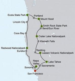 Mietwagenreise Wilde Küsten