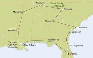 Mietwagenreise von Orlando durch den Südosten der USA