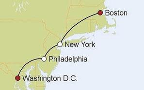 Mietwagenreise von Washington nach Boston