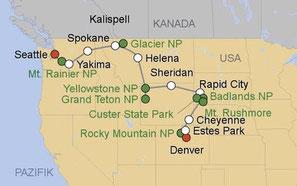 Mietwagenreise von Denver nach Seattle