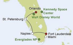 Mietwagenreise durch Florida für Familien
