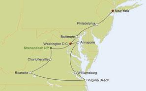 Mietwagenreise von New York durch die Capital Region nach Washington