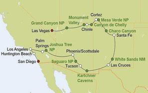 Mietwagenreise von Las Vegas nach San Diego