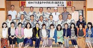 昭和47年度金津中学校3年1組同窓会