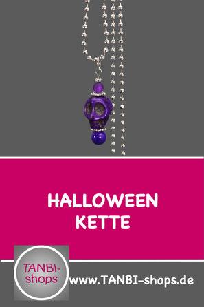 Kette Skull, Halloween Skull, Accessoires Skull, Accessoire Skull, Totenkopf Kette, Halloween Kette, Geschenkidee Halloween, Kleinigkeit Halloween, Kette Fasching, Accessoires Fasching