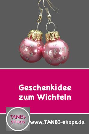 merry x-mas, Ohrringe Weihnachten, Ohrringe Weihnachtskugel, Weihnachtsschmuck, Wichteln Ohrringe, Ohrringe Adventszeit, Geschenkidee Mitarbeiter Weihnachten, Weihnachtsfeier Ohrringe, Accessoires Weihnachten