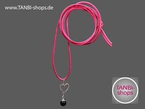 Kette mit Herz-Anhänger, Kette lang, Kinderkette, Herz-Anhänger, Accessoires pink, Geschenkidee Einschulung, Einschulungsgeschenk