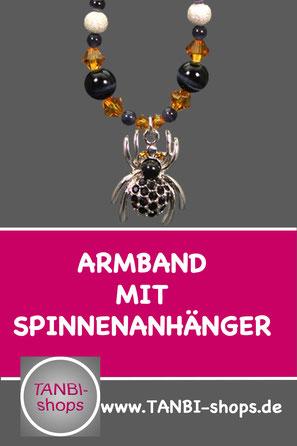 Accessoires für Halloween, Armband mit Spinnenanhänger, Armband gruselig, Armband für halloween, Geschenkidee Halloween, Kleinigkeit halloween, Armband halloween, Armband mit spinne,