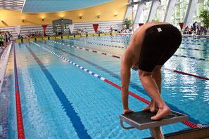 Schwimmer Startblock