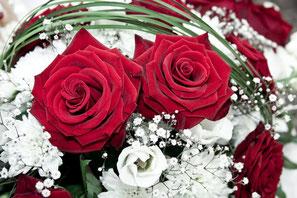 Brautstrauß Hochzeit rote Rosen