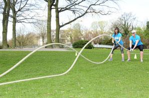 Bild Battle Ropes, Wilde Seile